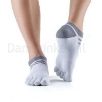 ToeSox Mediumweight Sport Socks No Show wit voorkant