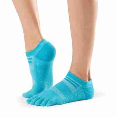 ToeSox Mediumweight Sport Socks No Show blauw zijkant