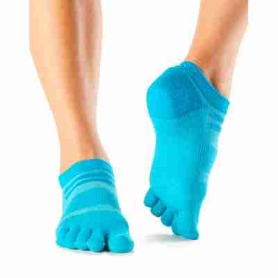 ToeSox Mediumweight Sport Socks No Show blauw voorkant