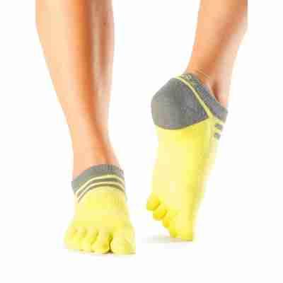 ToeSox Mediumweight Sport Socks No Show geel voorkant