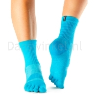 ToeSox Mediumweight Sport Sock Crew blauw voorkant
