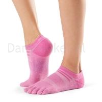 ToeSox Mediumweight Sport Socks No Show roze zijkant