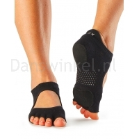 ToeSox Half Toe Prima Bellarina sokken Black