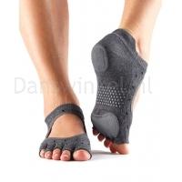 ToeSox Half Toe Prima Bellarina sokken grijs