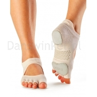 ToeSox Half Toe Prima Bellarina sokken lichtgrijs