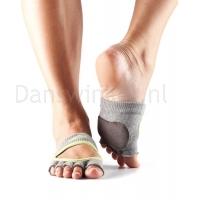 ToeSox Danse Sokken Releve Half Grijs