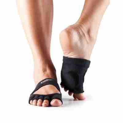 ToeSox Releve Halve Sokjes paars biologisch katoen voor pilates en stretchclass