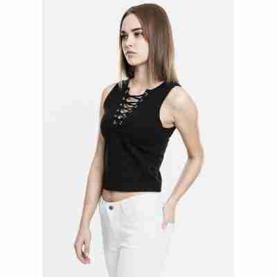Urban Classics Ladies Lace Up Cropped Top