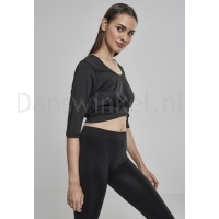 Urban Classics Ladies Active 3/4 Sleeve Cropped Top