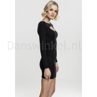 Urban Classics Ladies Cut Out Dress zwart