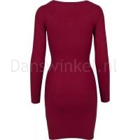 Urban Classics Ladies Cut Out Dress burgundy