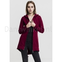 Urban Classics Dames Sweat Parka Burgundy voor