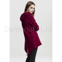Urban Classics Dames Sweat Parka Burgundy achter