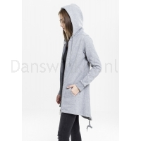 Urban Classics Dames Sweat Parka Grijs links