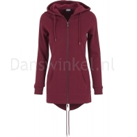 Urban Classics Dames Sweat Parka Burgundy voorkant