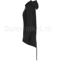 Urban Classics Dames Sweat Parka Zwart links