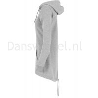 Urban Classics Dames Sweat Parka Grijs linkerkant