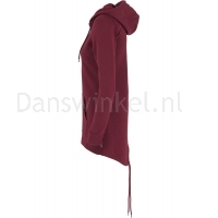 Urban Classics Dames Sweat Parka Burgundy zijkant links