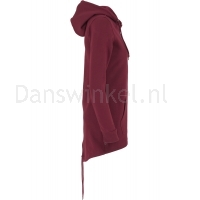 Urban Classics Dames Sweat Parka Burgundy rechts