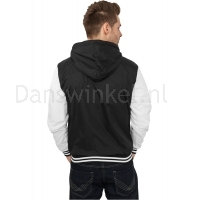 Urban Classics University Windbreaker Zwart-Wit