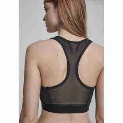 Urban Classics Ladies Tech Mesh Zipped Bra achter