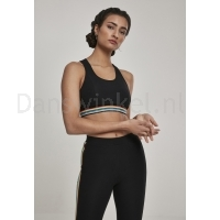 Urban Classics Ladies Multicolor Taped Sport Bra zwart