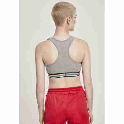 Urban Classics Ladies Multicolor Taped Bra grijs achter