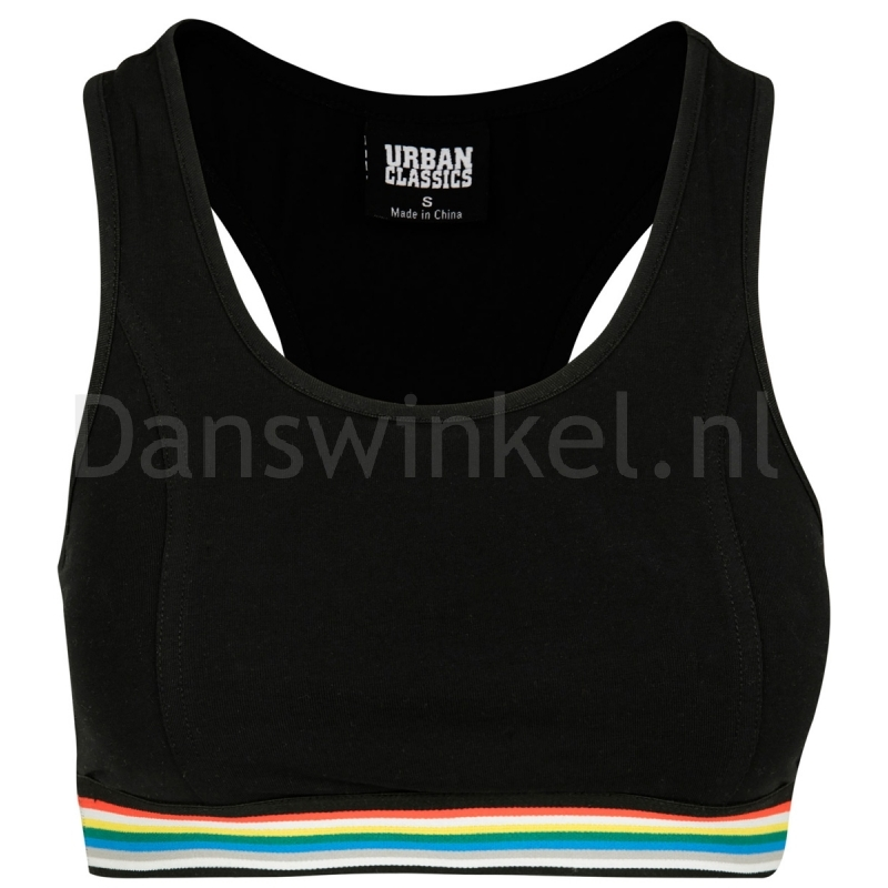 Urban Classics Ladies Multicolor Taped Sport Bra