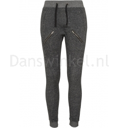 Urban Classics Ladies Zipped Melange Sweatpants