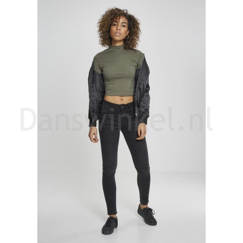 Urban Classics Ladies Cropped Turtleneck Tee