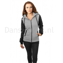 Urban Classics Diamond Leather Imitation Sleeve Zip Hoody