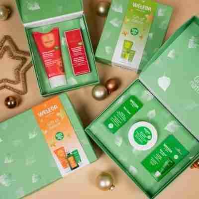 weleda 480 cadeau pakketten granaatappel skin food arnica